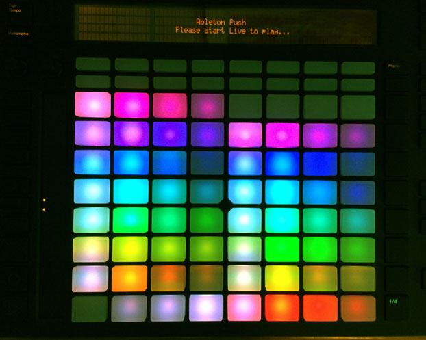 Push pad palette